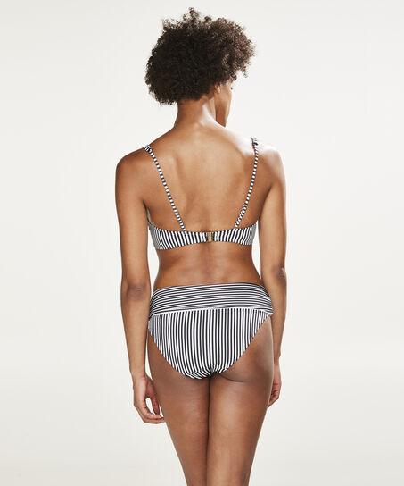 Voorgevormde beugel bikinitop Straps and Stripes, Zwart