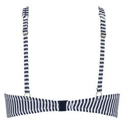 Voorgevormde beugel bikinitop Straps & Stripes, Blauw