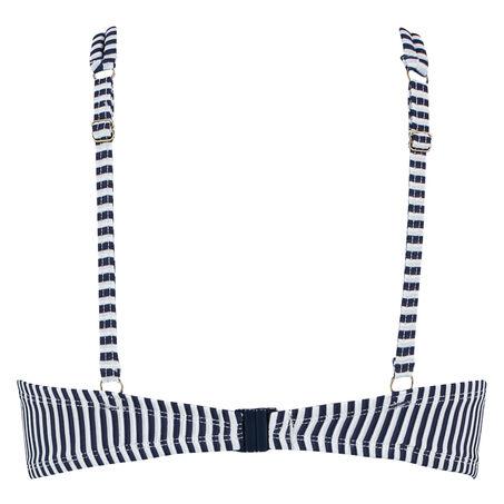Voorgevormde beugel bikinitop Straps en Stripes, Blauw