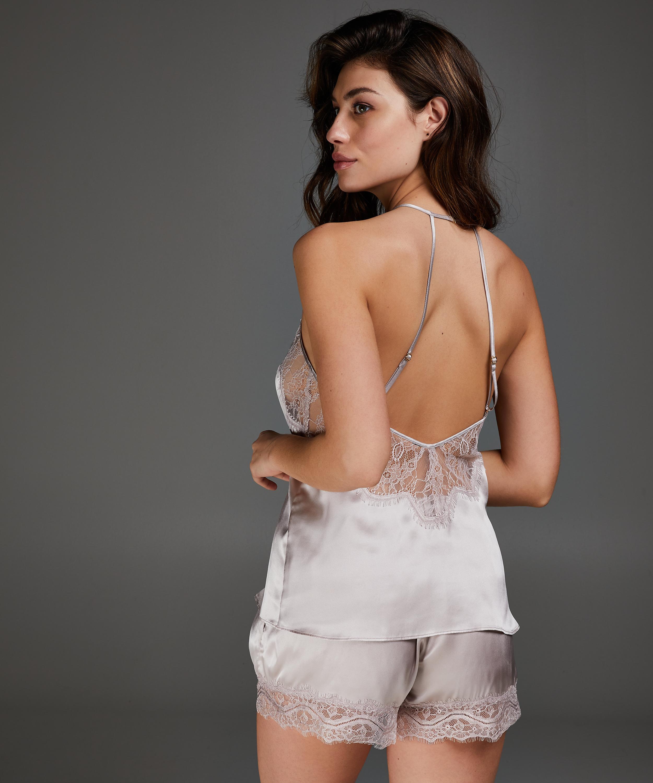 Cami top zijde, Roze, main