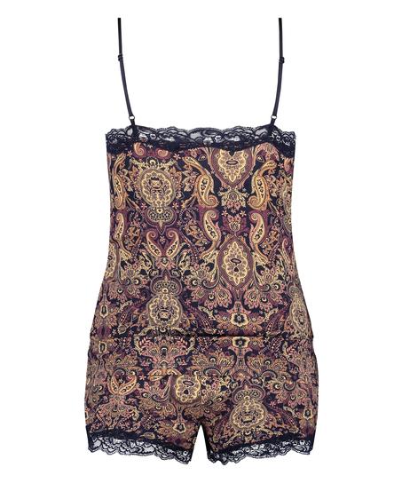 Korte pyjama set Multi Paisley, Blauw