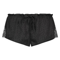 Pyjama short Satin, Zwart