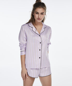 Pyjamatop Satin, Paars
