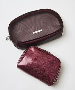 2 delige make-up tas, Rood
