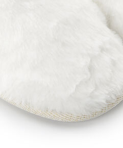 Huisslippers Fake Fur, Wit
