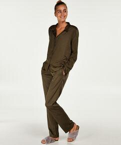Pyjamabroek Satin, Groen