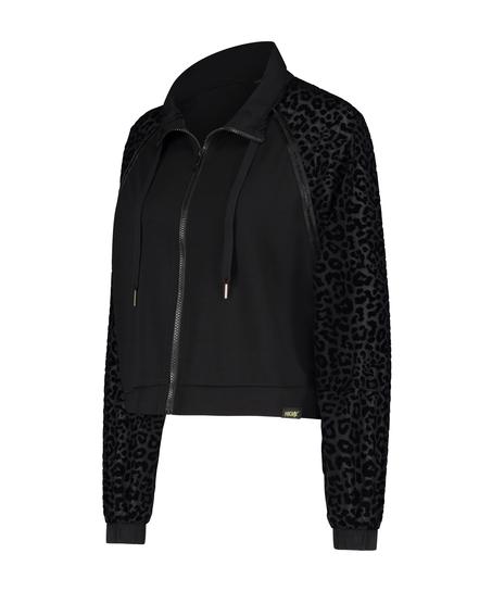 HKMX Jacket Leopard , Zwart