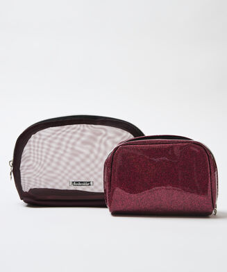 2 delige make-up tas, Rood