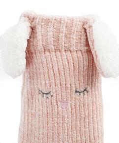 Slof sokken Fluffy Bunny, Roze