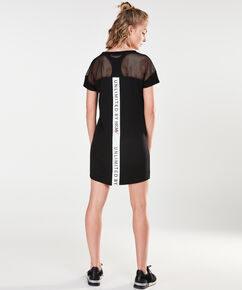 HKMX jurk mesh tape, Zwart