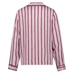 Pyjamatop Woven Striped, Roze