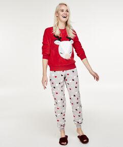 Fleece pyjamabroek, Grijs