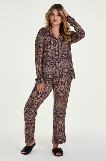 Hunkemöller Pyjamaset Paisley Blauw