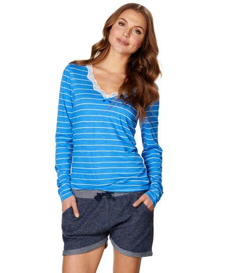 Pyjama shorts Cheri, Blauw