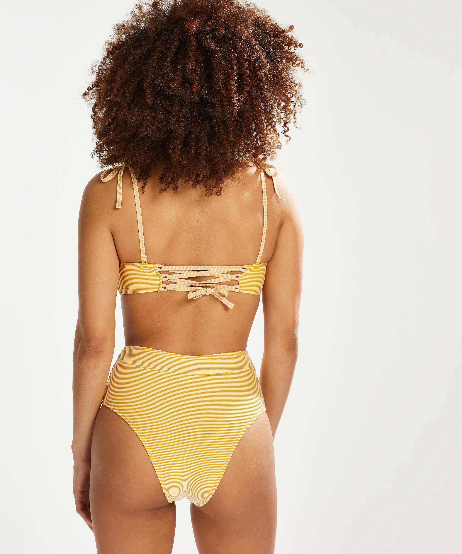 Voorgevormde bandeau bikinitop Carmel, Geel, main