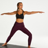 HKMX High waisted sport legging Shine On, Paars