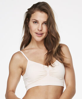 Naadloze strappy top, Roze