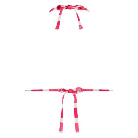 Triangle bikinitop Candy Stripes, Roze