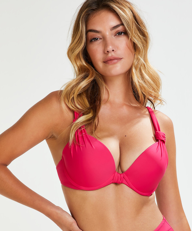 Voorgevormde beugel bikinitop Luxe Cup E +, Roze, main