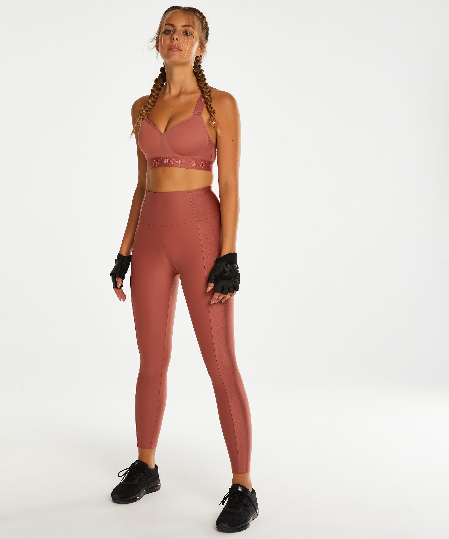HKMX High waisted sport legging Shine On, Roze, main