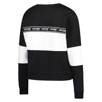 HKMX Sweater Fleece Colourblock, Zwart