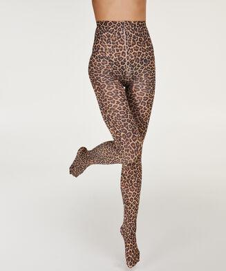Panty 40 Denier Animal print, Bruin
