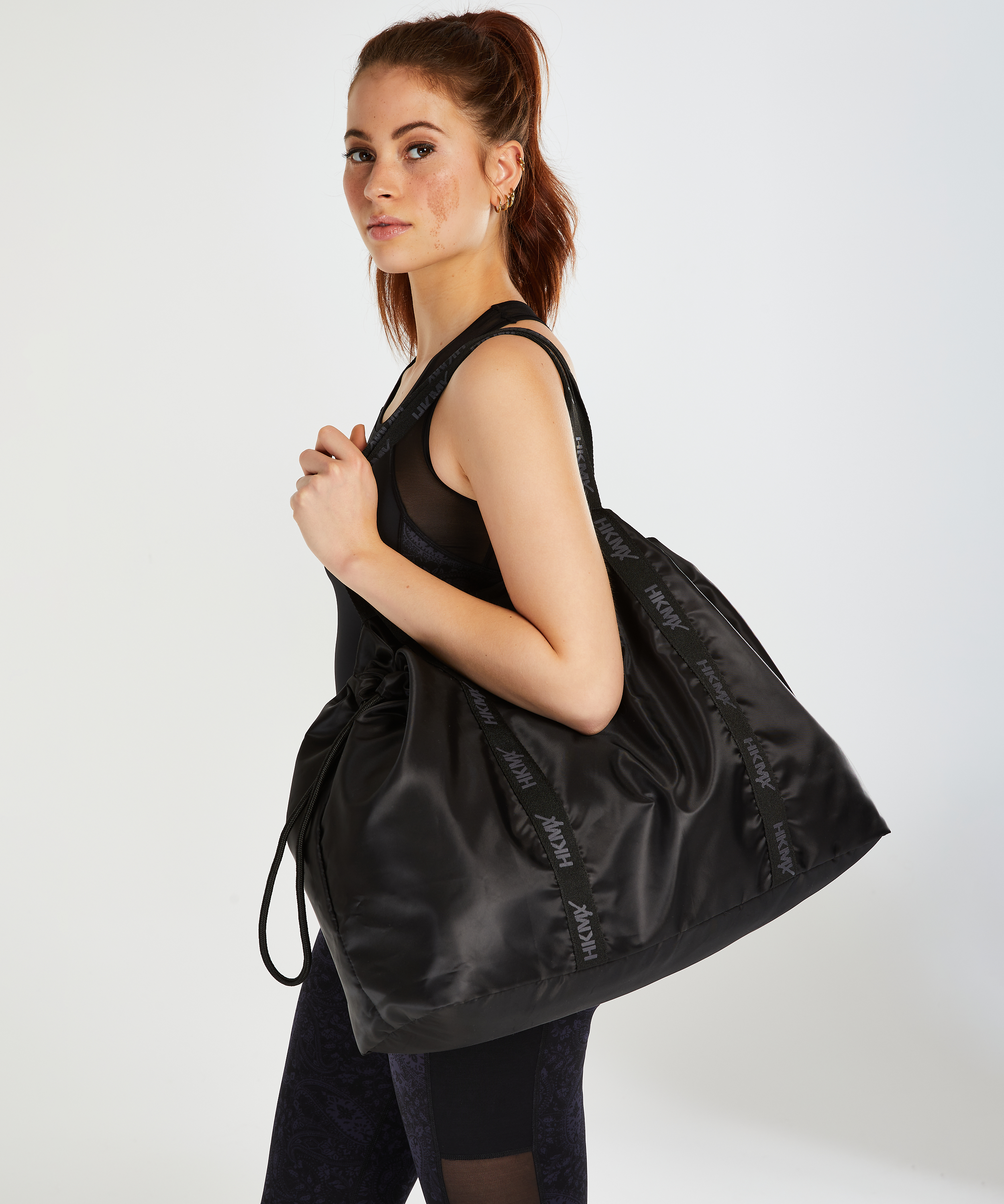 HKMX Tote bag, Zwart, main