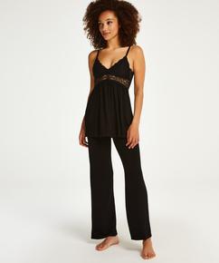 Pyjamaset Vera Lace, Zwart
