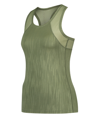 HKMX Sport slim fit tank top, Groen