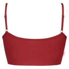 Naadloze strappy top, Rood