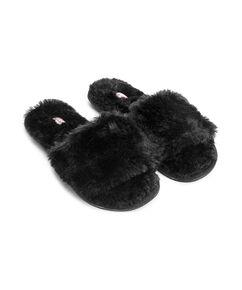 Huisslippers Fur Top, Zwart
