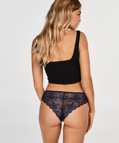 Invisible Brazilian Lace Back, Blauw