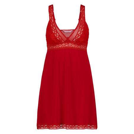 Graphic Lace slipdress, Rood