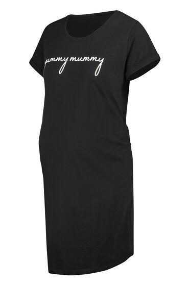 Hunkemöller Zwangerschapsnachthemd met korte mouwen Zwart