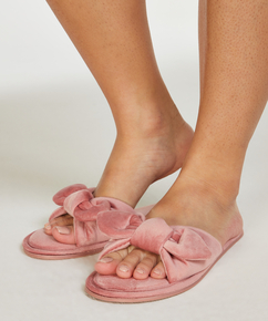 Velours Knot Slipper, Roze
