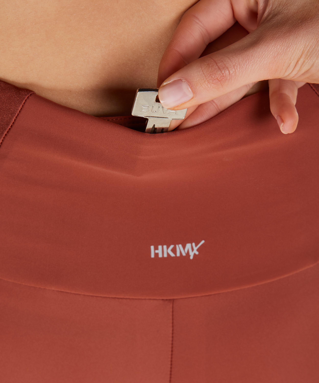 HKMX High waisted sport legging Shine On, Rood, main