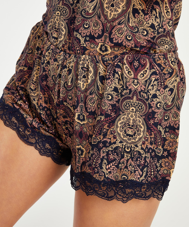 Korte pyjama set Multi Paisley, Blauw, main