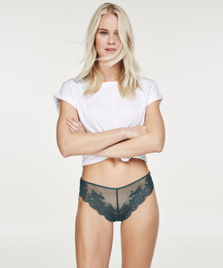 String Invisible lace front, Groen