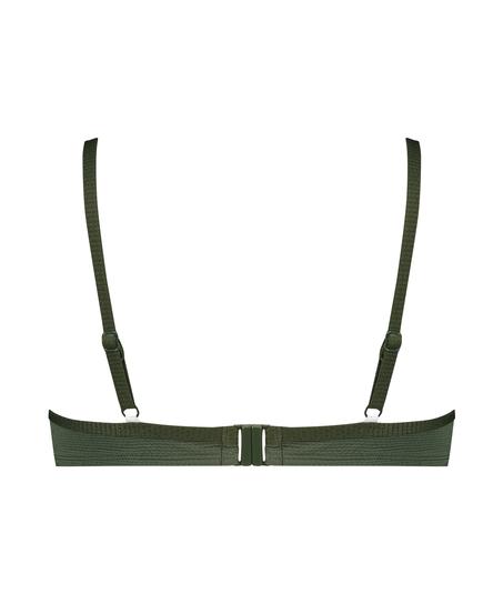 Niet-voorgevormde bikinitop met beugel Scallop Glam, Groen