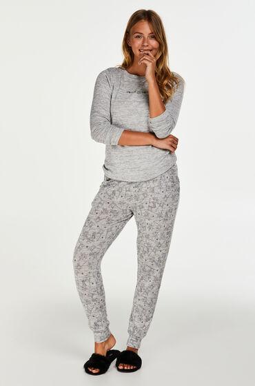 Hunkemöller Cadeauset Lange Pyjama Set Jersey Grijs