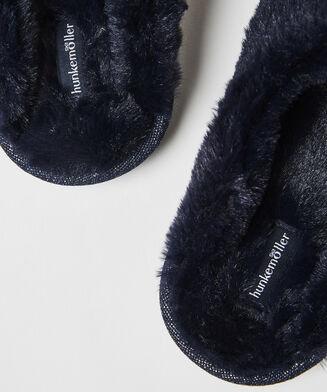 Huisslippers Fake Fur, Blauw