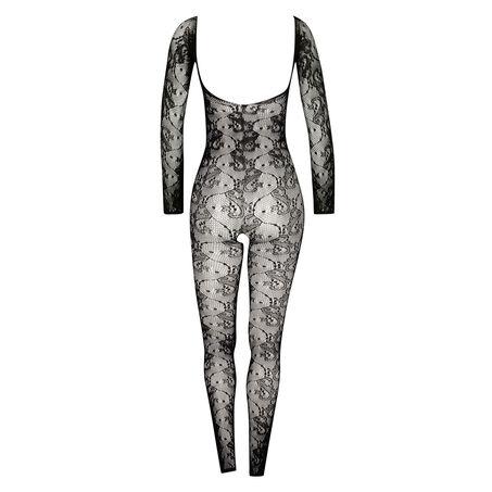 Catsuit Long Sleeve, Zwart
