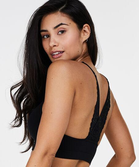 Marina Seamless lace back, Zwart