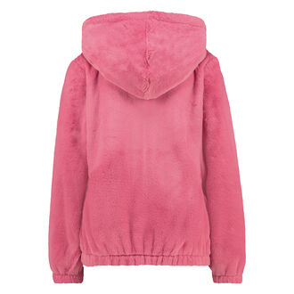 Vest fleece fake fur, Roze