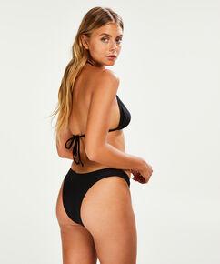 Hoog uitgesneden bikinibroekje Haze, Zwart