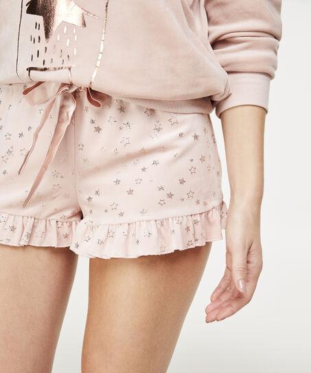 Short Velours Lace, Roze