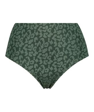 Hoog bikinibroekje Tonal Leo, Groen