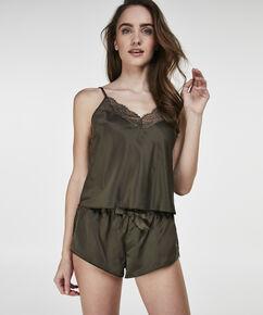 Pyjama short Satin, Groen