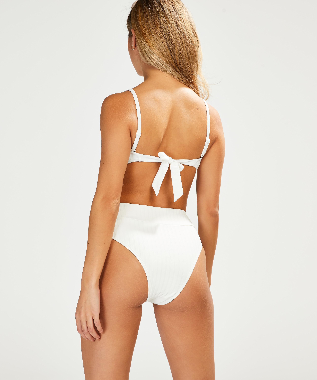 Voorgevormde bandeau bikinitop Emily, Wit, main
