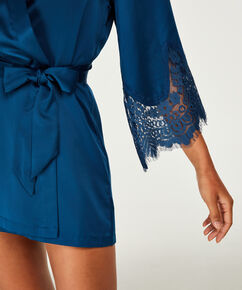 Kimono Satin lace Indra Petite, Blauw